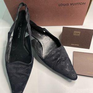Louis Vuitton monogram kitten heels